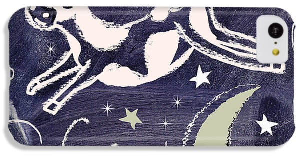 Cow Jumped Over The Moon Chalkboard Art IPhone 5c Case by Mindy Sommers