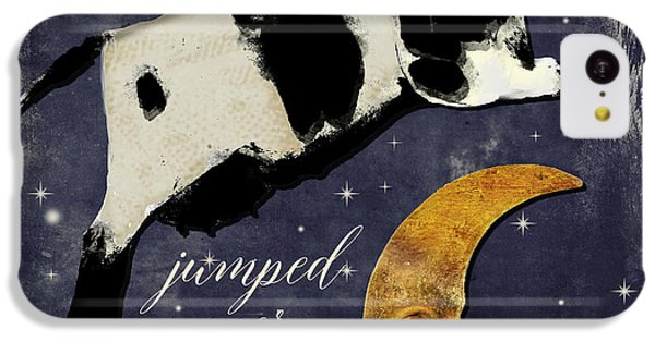 Cow iPhone 5c Case - Cow Jumped Over The Moon by Mindy Sommers