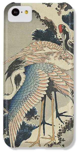 Cranes On Pine IPhone 5c Case by Hokusai