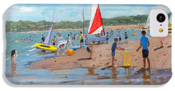 Cricket iPhone 5c Case - Cricket And Red And White Sail by Andrew Macara