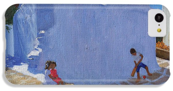 Cricket iPhone 5c Case - Cricket By The Church Wall, Mykonos  by Andrew Macara