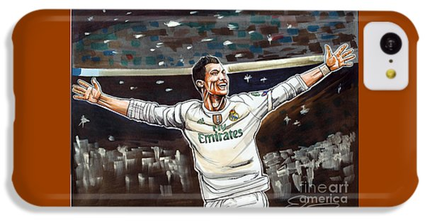 Cristiano Ronaldo Of Real Madrid IPhone 5c Case by Dave Olsen