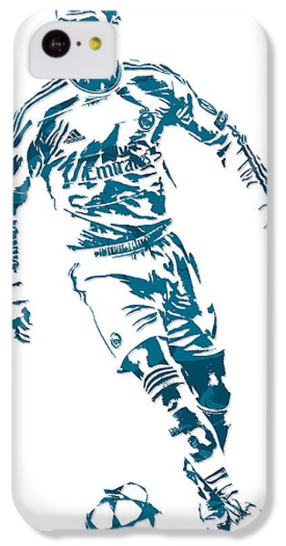 Cristiano Ronaldo Real Madrid Pixel Art 1 IPhone 5c Case