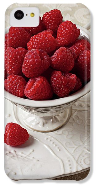Cup Full Of Raspberries  IPhone 5c Case by Garry Gay