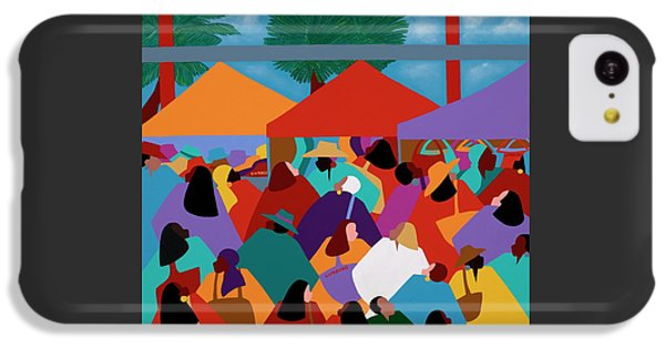 iPhone 5c Case - Curacao Market by Synthia SAINT JAMES