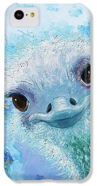 Curious Ostrich IPhone 5c Case by Jan Matson