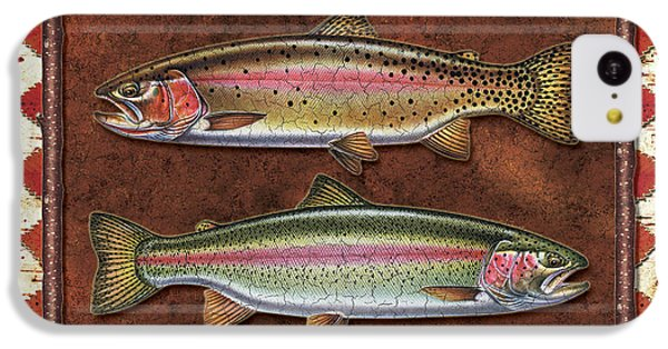 Trout iPhone 5c Case - Cutthroat And Rainbow Trout Lodge by JQ Licensing
