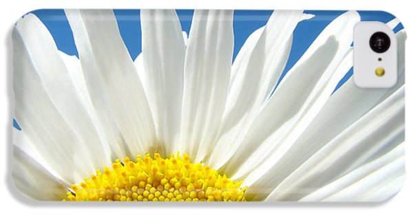 Daisy Art Prints White Daisies Flowers Blue Sky IPhone 5c Case by Baslee Troutman