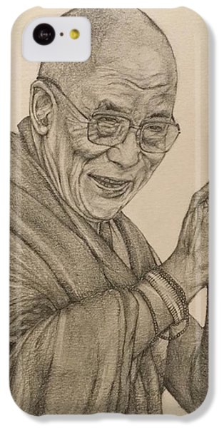 Dalai Lama Tenzin Gyatso IPhone 5c Case by Kent Chua
