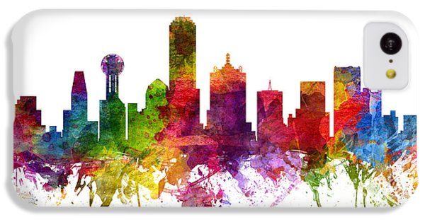 Dallas Cityscape 06 IPhone 5c Case by Aged Pixel