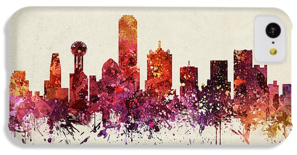Dallas Cityscape 09 IPhone 5c Case by Aged Pixel