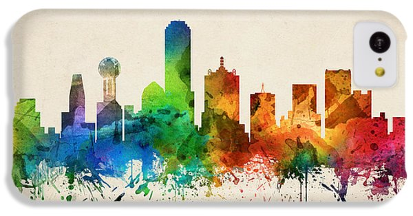 Dallas Texas Skyline 05 IPhone 5c Case by Aged Pixel