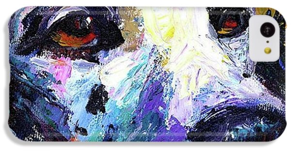 iPhone 5c Case - Dalmatian Dog Close-up Painting By by Svetlana Novikova