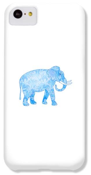 Damask Pattern Elephant IPhone 5c Case by Antique Images