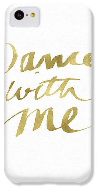 Valentines Day iPhone 5c Case - Dance With Me Gold- Art By Linda Woods by Linda Woods