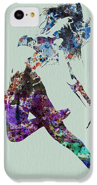 Musical iPhone 5c Case - Dancer Watercolor by Naxart Studio