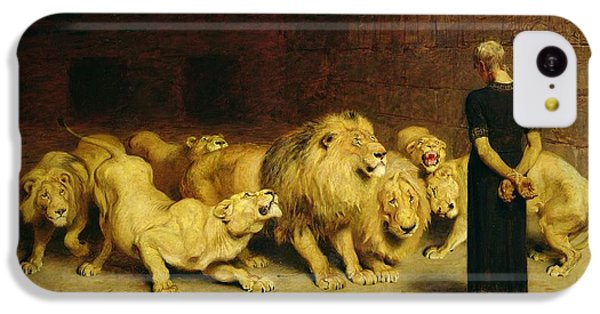 Fantasy iPhone 5c Case - Daniel In The Lions Den by Briton Riviere