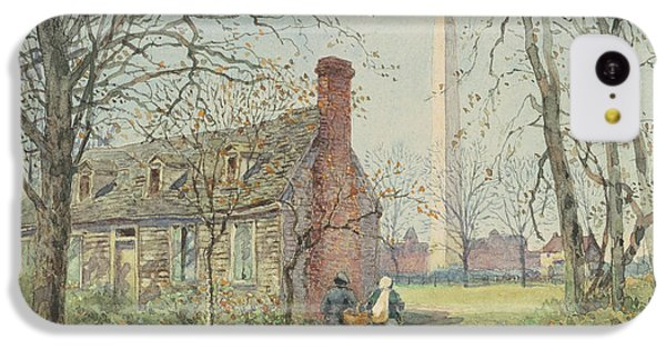 Washington Monument iPhone 5c Case - David Burns's Cottage And The Washington Monument, Washington Dc, 1892  by Walter Paris