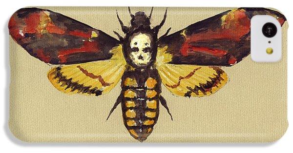 Hawk iPhone 5c Case - Death Head Hawk Moth by Juan Bosco