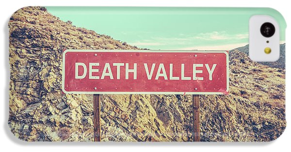 Mountain iPhone 5c Case - Death Valley Sign by Mr Doomits