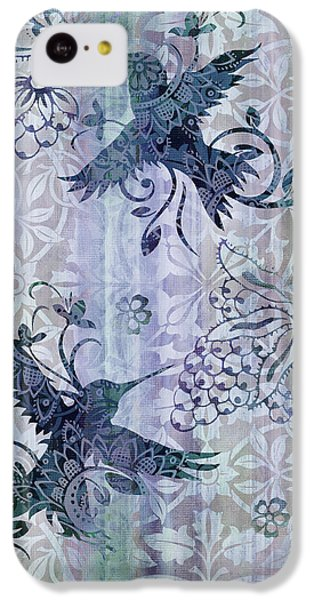 Humming Bird iPhone 5c Case - Deco Hummingbird Blue by JQ Licensing