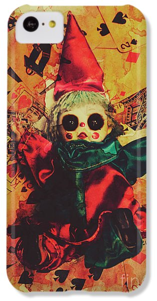 Magician iPhone 5c Case - Demonic Possessed Joker Doll by Jorgo Photography - Wall Art Gallery