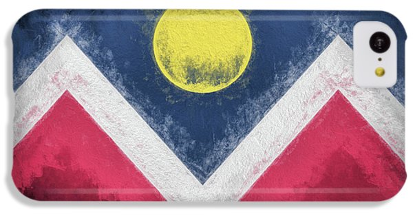 IPhone 5c Case featuring the digital art Denver Colorado City Flag by JC Findley