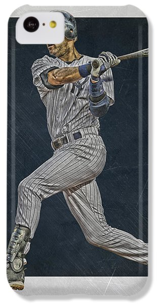 Derek Jeter iPhone 5c Case - Derek Jeter New York Yankees Art 2 by Joe Hamilton
