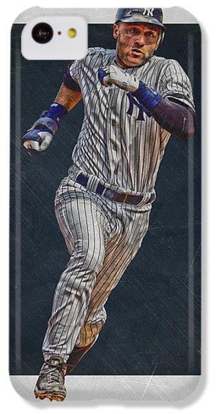 Derek Jeter iPhone 5c Case - Derek Jeter New York Yankees Art 3 by Joe Hamilton