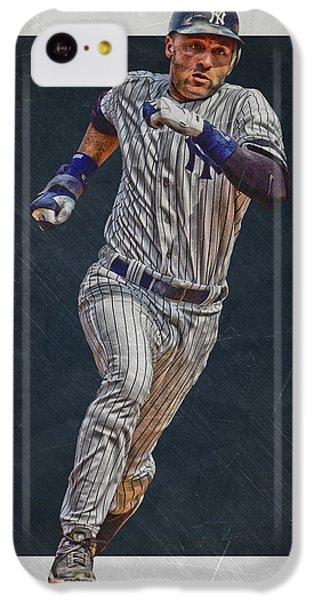 Derek Jeter New York Yankees Art 3 IPhone 5c Case by Joe Hamilton