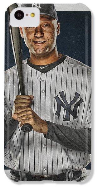 Derek Jeter New York Yankees Art IPhone 5c Case