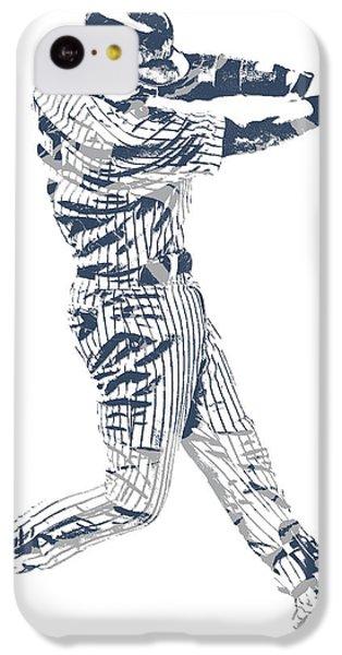 Derek Jeter iPhone 5c Case - Derek Jeter New York Yankees Pixel Art 10 by Joe Hamilton