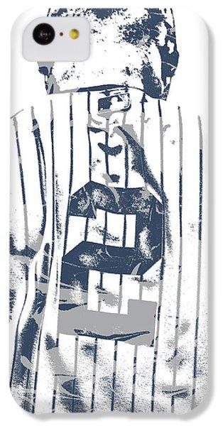 Derek Jeter iPhone 5c Case - Derek Jeter New York Yankees Pixel Art 11 by Joe Hamilton