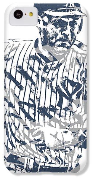 Derek Jeter iPhone 5c Case - Derek Jeter New York Yankees Pixel Art 12 by Joe Hamilton
