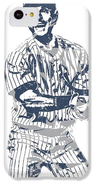 Derek Jeter iPhone 5c Case - Derek Jeter New York Yankees Pixel Art 13 by Joe Hamilton