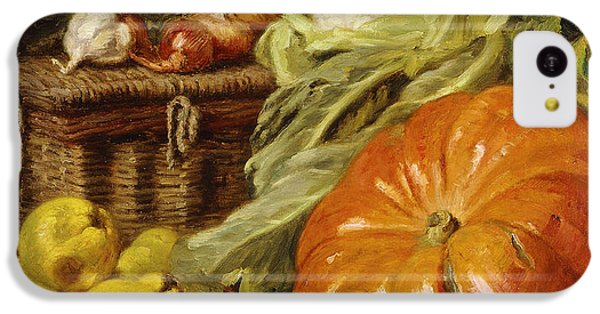 Detail Of A Still Life With A Basket, Pears, Onions, Cauliflowers, Cabbages, Garlic And A Pumpkin IPhone 5c Case by Eugene Claude