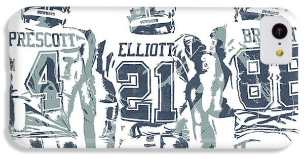 7184af43f418a7 Ezekiel Elliott iPhone 5c Case - Dez Bryant Ezekiel Elliott Dak Prescott  Dallas Cowboys Pixel Art