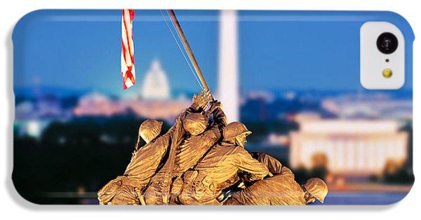 Digital Composite, Iwo Jima Memorial IPhone 5c Case