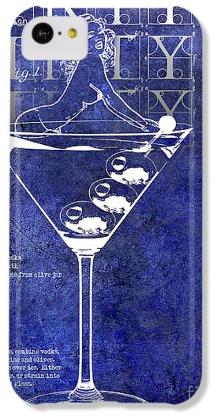 Dirty Dirty Martini Patent Blue IPhone 5c Case by Jon Neidert