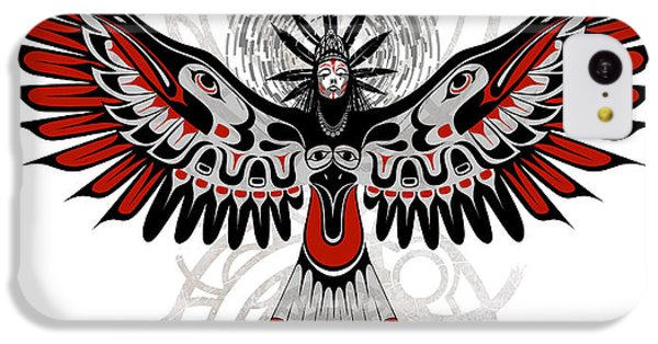 Raven iPhone 5c Case - Divine Crow Woman by Sassan Filsoof