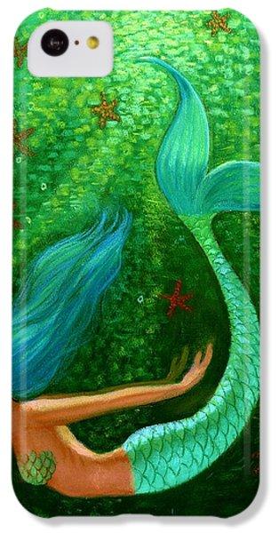 Diving Mermaid Fantasy Art IPhone 5c Case by Sue Halstenberg