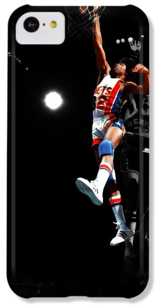 Magic Johnson iPhone 5c Case - Doctor J Over The Top by Brian Reaves