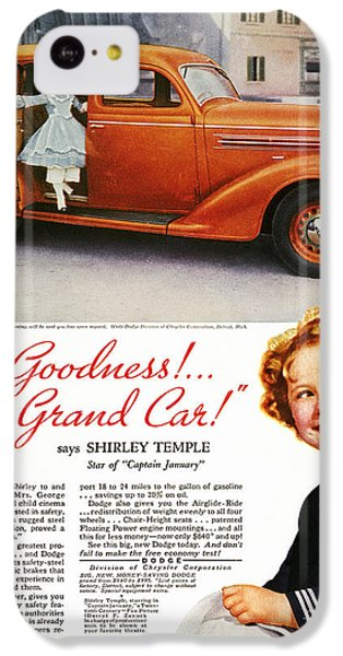 Dodge Automobile Ad, 1936 IPhone 5c Case by Granger