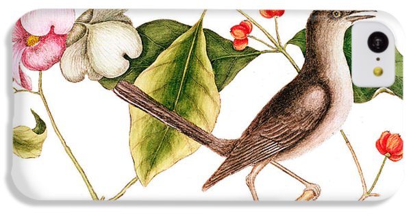 Dogwood  Cornus Florida, And Mocking Bird  IPhone 5c Case by Mark Catesby