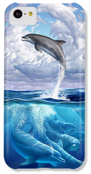Dolphonic Symphony IPhone 5c Case by Jerry LoFaro
