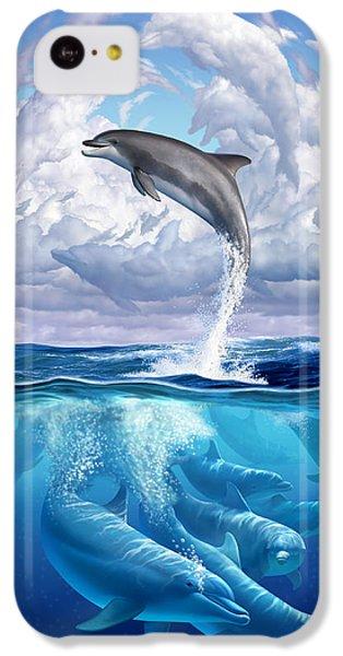 Beach iPhone 5c Case - Dolphonic Symphony by Jerry LoFaro