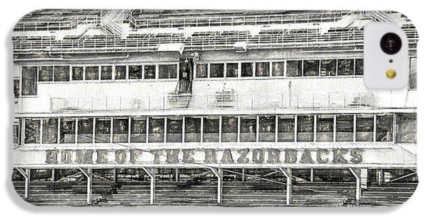Donald W. Reynolds Razorback Stadium IPhone 5c Case by JC Findley
