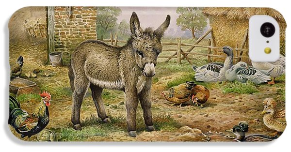 Donkey And Farmyard Fowl  IPhone 5c Case by Carl Donner