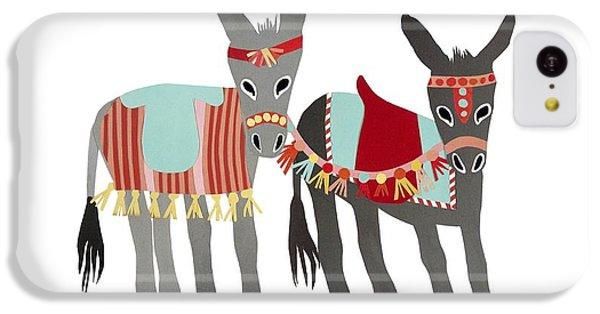 Donkeys IPhone 5c Case by Isoebl Barber