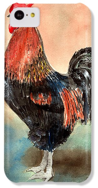 Rooster iPhone 5c Case - Doodle by Arline Wagner